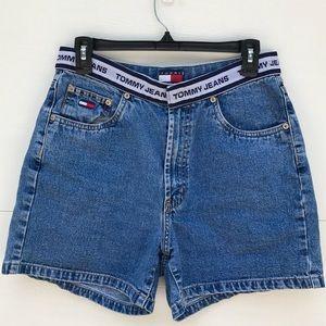 Vintage Tommy Hilfiger High Waist Denim Mom Shorts